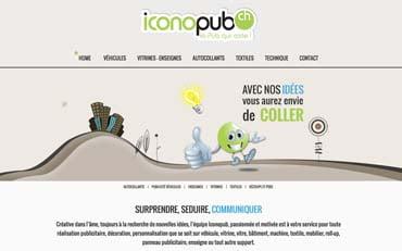 Iconopub, la pub qui colle